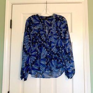 Long sleeve blue blouse